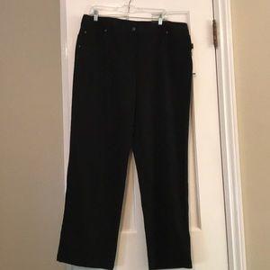 Rafaela Size 16W black dress pants